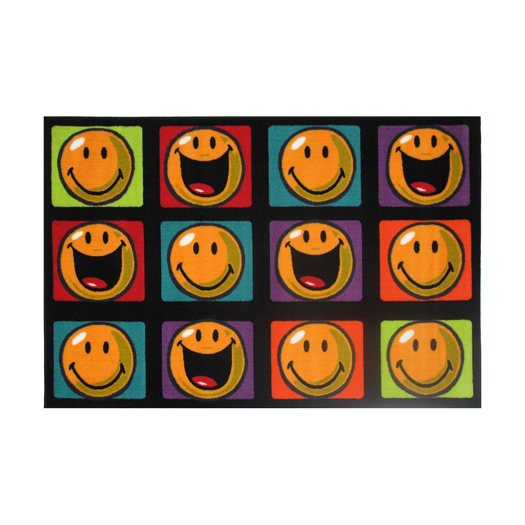 Fun Rugs™ Smiley World Happy & Smiling Rug - 3'3'' x 4'10''