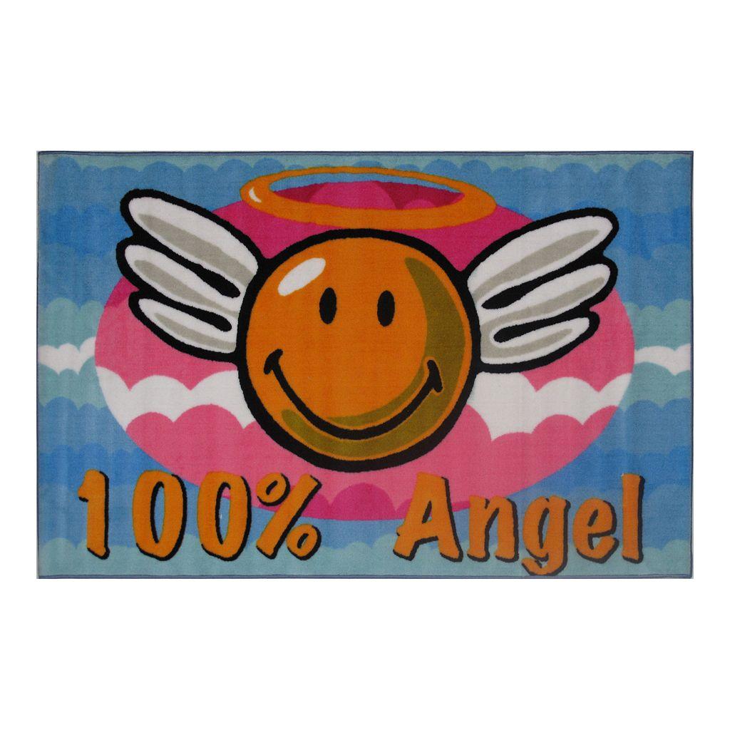 Fun Rugs™ Smiley World Smiley Angel Rug - 3'3'' x 4'10''