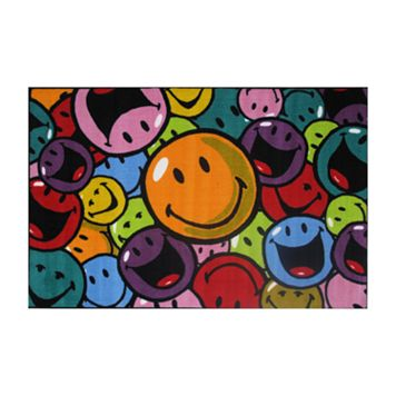 Fun Rugs™ Smiley World Smiles & Laughs Rug - 3'3'' x 4'10''