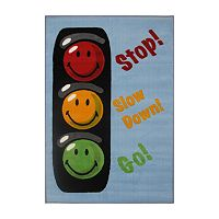 Fun Rugs™ Smiley World Traffic Signal Rug - 19'' x 29''