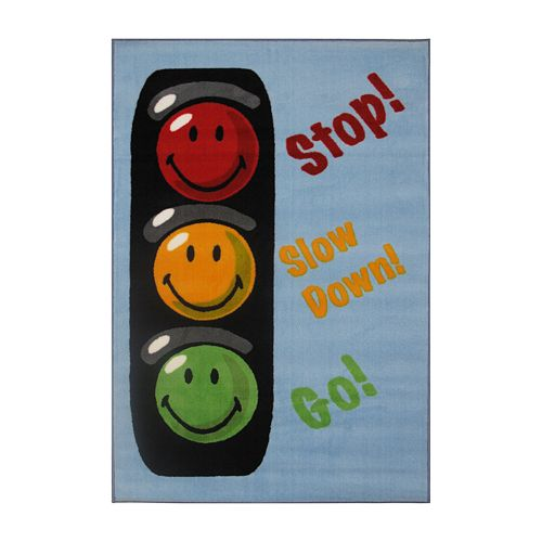 Fun Rugs™ Smiley World Traffic Signal Rug
