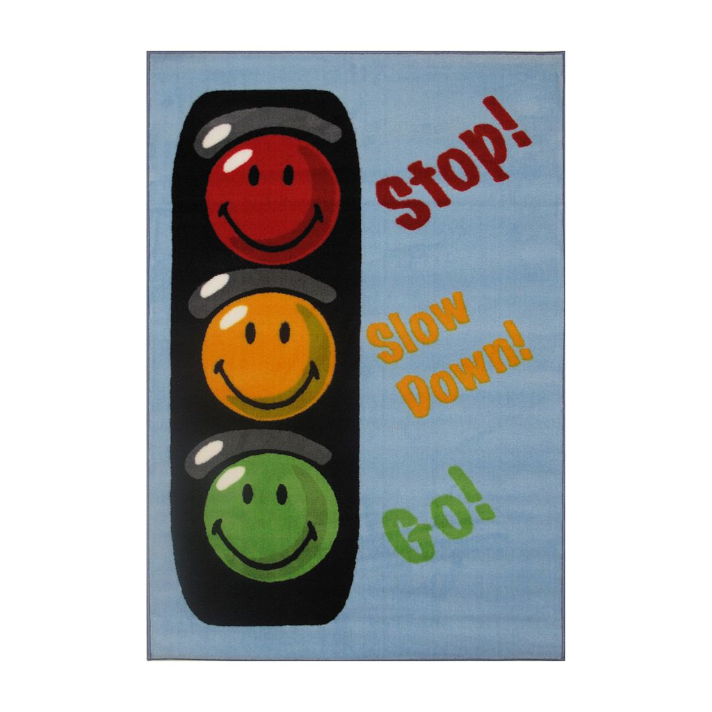 Fun Rugs™ Smiley World Traffic Signal Rug - 3'3'' x 4'10''