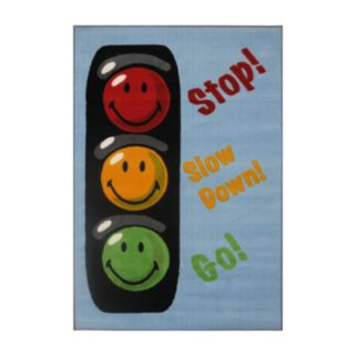 Fun Rugs Smiley World Traffic Signal Rug - 3'3'' x 4'10''