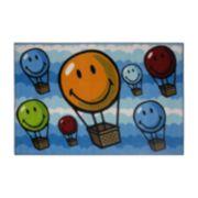 Fun Rugs? Smiley World Hot Air Balloon Rug