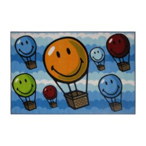 Fun Rugs Smiley World Hot Air Balloon Rug - 19'' x 29''