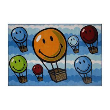 Fun Rugs™ Smiley World Hot Air Balloon Rug - 3'3'' x 4'10''