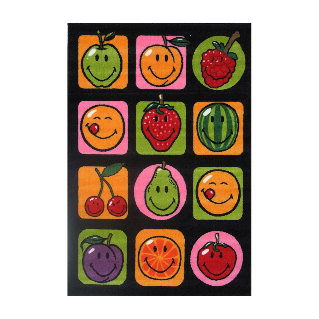 Fun Rugs™ Smiley World Fruitti Rug - 3'3'' x 4'10''