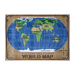 Fun Rugs™ Supreme World Map Rug