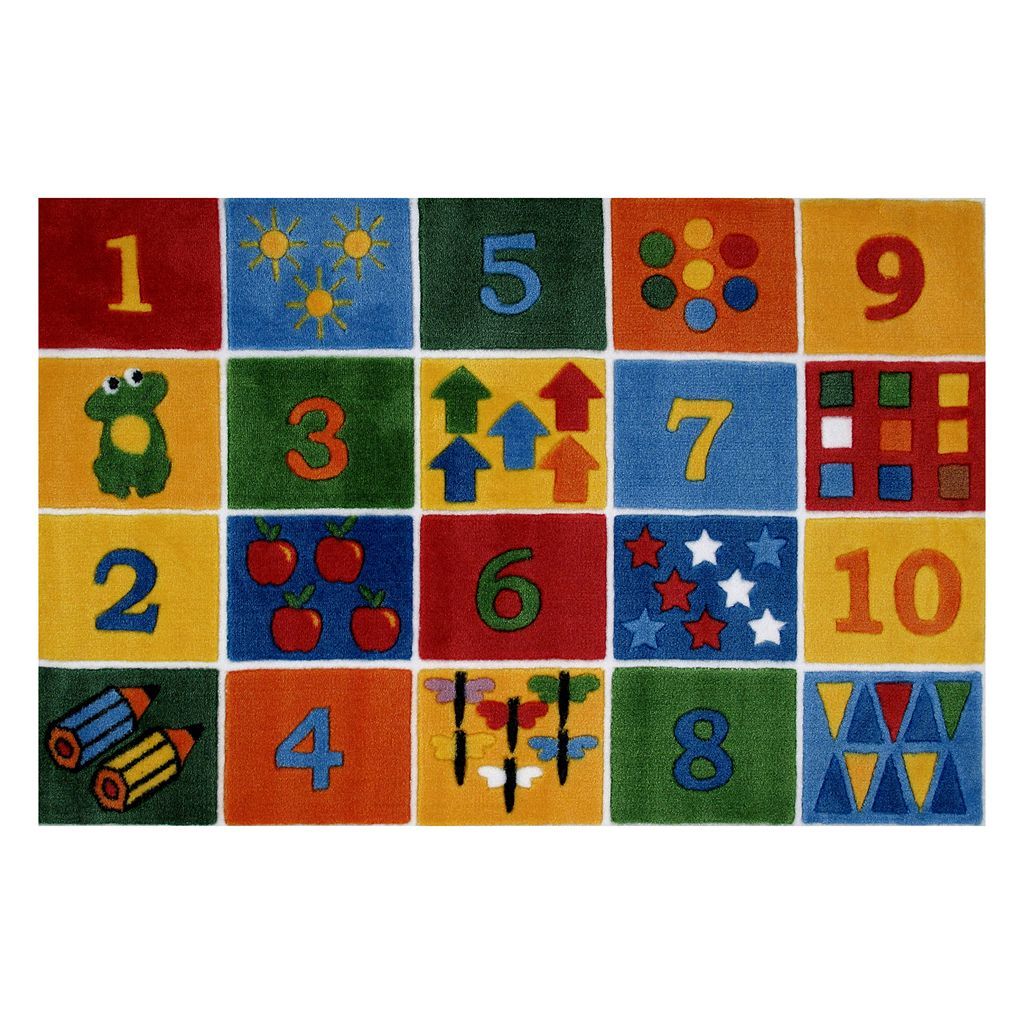 Fun Rugs Supreme Number Blocks Rug