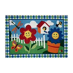 Fun Rugs™ Olive Kids™ Happy Flowers Rug - 3'3'' x 4'10''