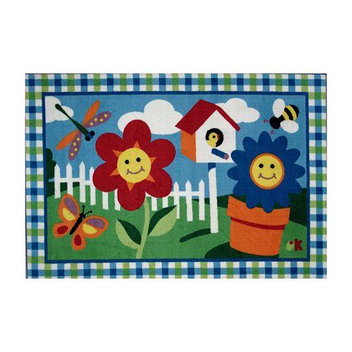 Fun Rugs™ Olive Kids™ Happy Flowers Rug - 3'3'' x 4'10''