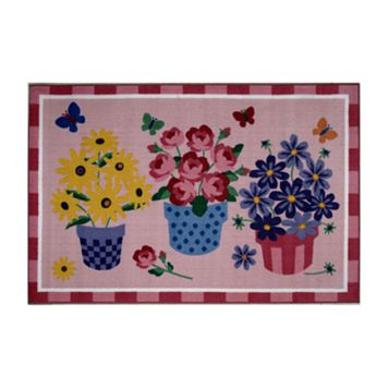 Fun Rugs™ Olive Kids™ Blossoms and Butterflies Rug - 3'3'' x 4'10''