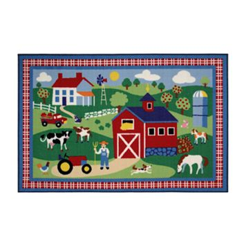 Fun Rugs™ Olive Kids™ Country Farm Rug - 3'3'' x 4'10''