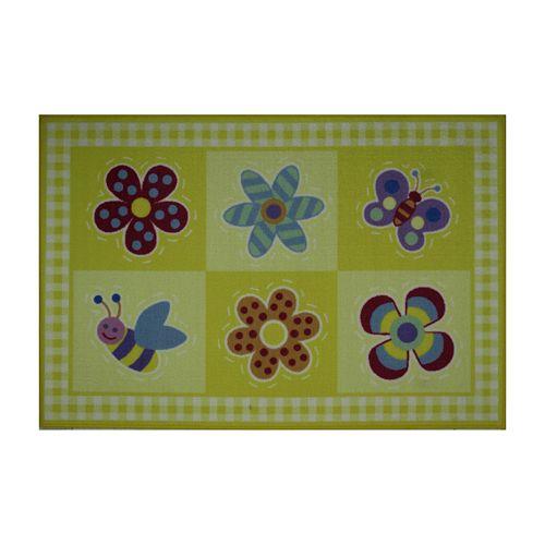 Fun Rugs™ Olive Kids™ Flowerland Rug - 3'3'' x 4'10''