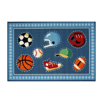 Fun Rugs™ Olive Kids™ Go Team Rug - 3'3'' x 4'10''