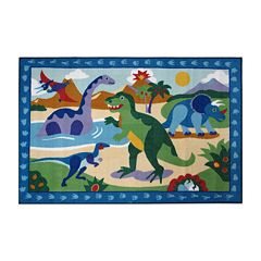 Fun Rugs™ Olive Kids™ Dinosaurland - 3'3'' x 4'10''