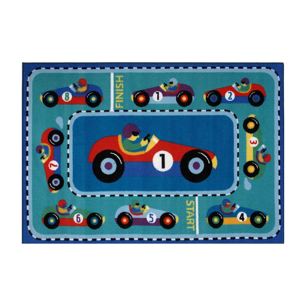 Fun Rugs™ Olive Kids™Vroom Rug - 3'3'' x 4'10''