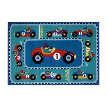 Fun Rugs™ Olive Kids™Vroom Rug - 3'3'' x 4'10''