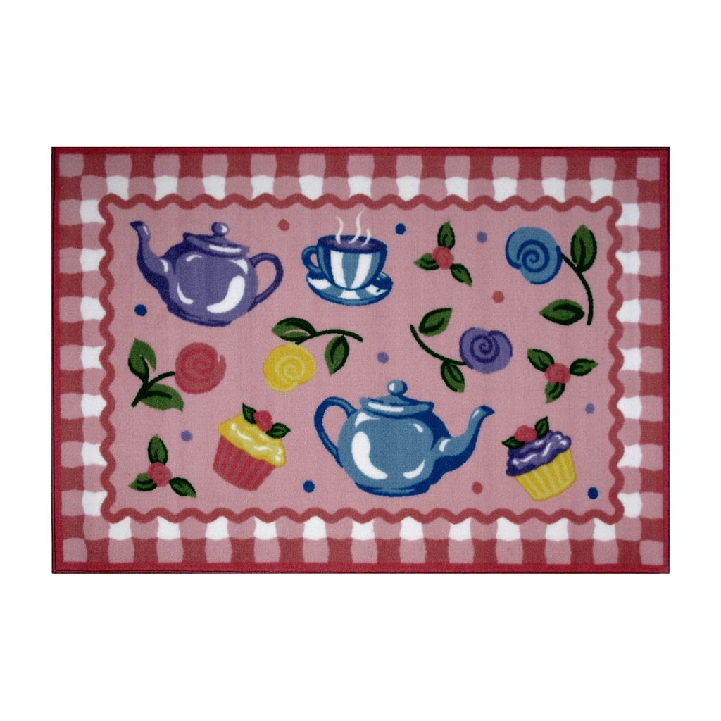 Fun Rugs™ Olive Kids™ Tea Party Rug - 3'3'' x 4'10''