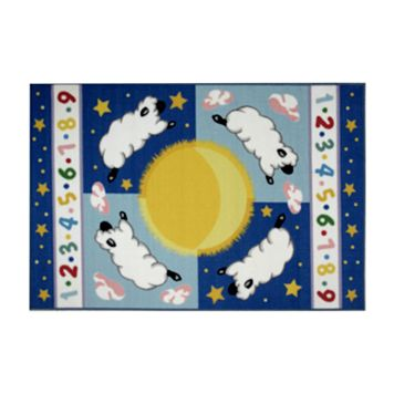 Fun Rugs™ Olive Kids™ Sleepy Sheep Rug - 3'3'' x 4'10''