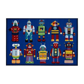 Fun Rugs™ Olive Kids™ Go Robots Rug - 3'3'' x 4'10''