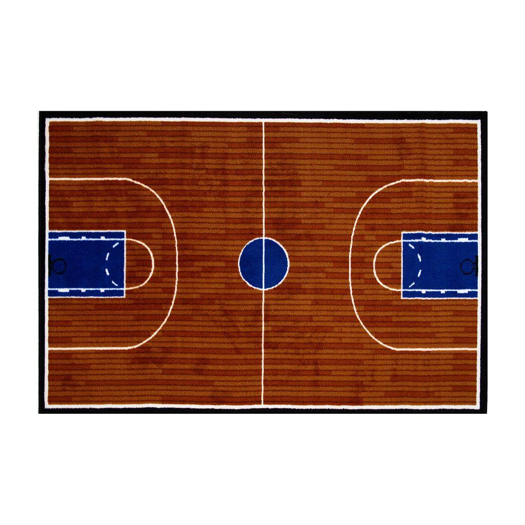 Fun Rugs™ Fun Time Basketball Court Rug - 3'3'' x 4'10''