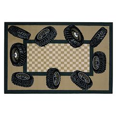 Fun Rugs™ Fun Time Tire Border Rug