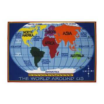 Fun Rugs™ Fun Time World Map Rug - 8' x 11'