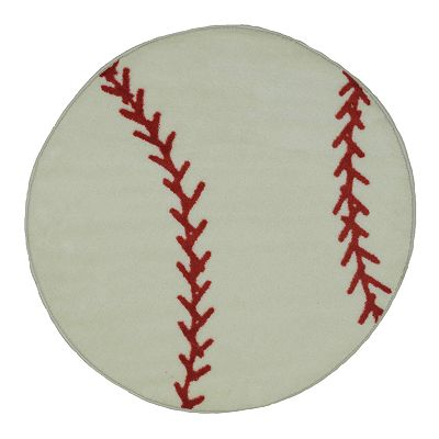 Fun Rugs Fun Time Baseball Rug