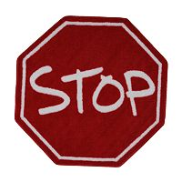 Fun Rugs™ Fun Time Stop Sign Rug