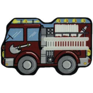 Fun Rugs Fun Time Fire Engine Rug