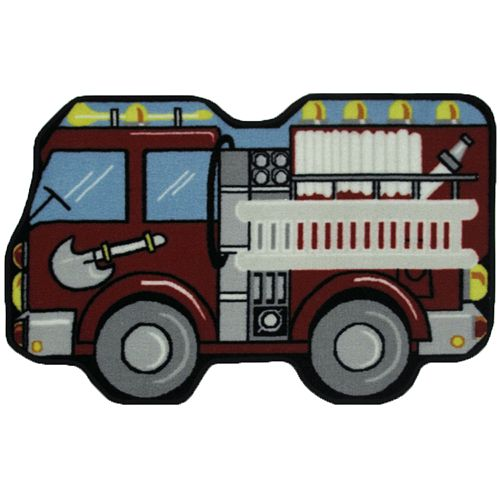 Fun Rugs™ Fun Time Fire Engine Rug