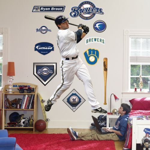 Fathead Milwaukee Brewers Ryan Braun Wall Decal