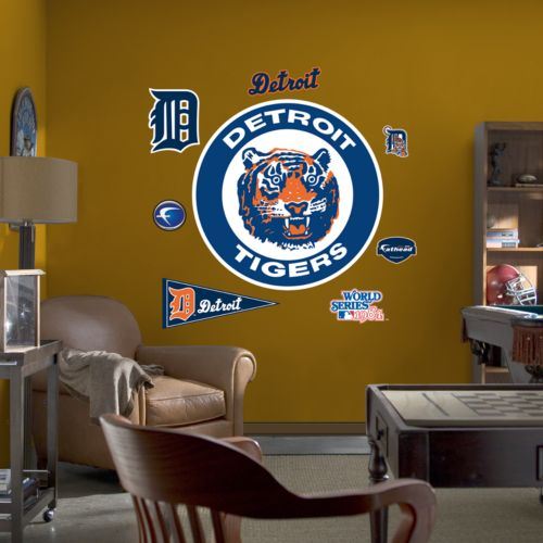 Fathead Detroit Tigers Throwback Logo Wall Decal