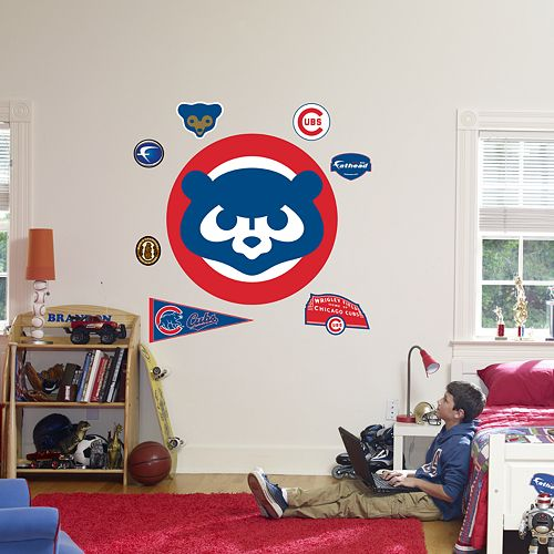 Fathead®Chicago Cubs Throwback Logo Wall Decal