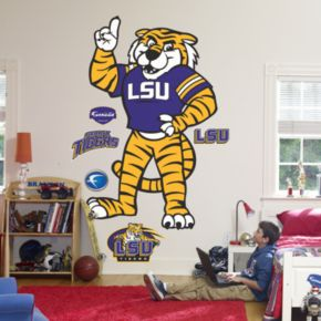 Fathead LSU Mike the Tiger Logo Wall Decal