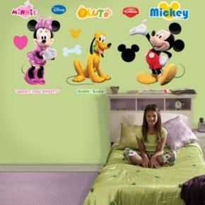 Fathead Disney Mickey, Minnie and Pluto Wall Decals