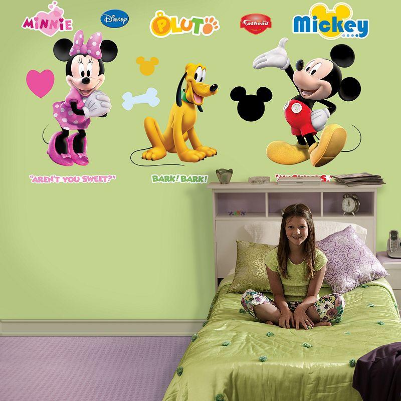 Fathead Disney Mickey, Minnie and Pluto Wall Decals, Multicolor