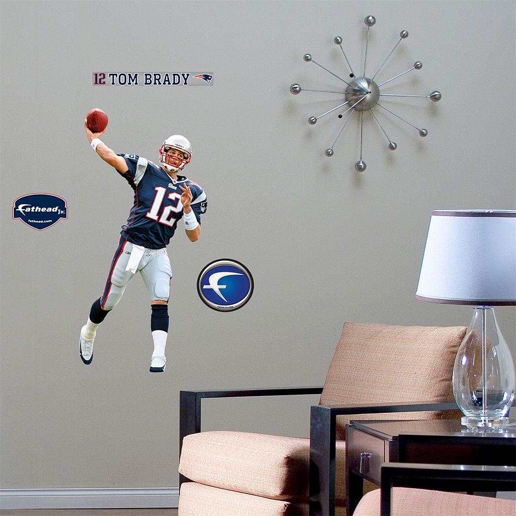 Fathead® Junior New England Patriots Tom Brady Wall Decal
