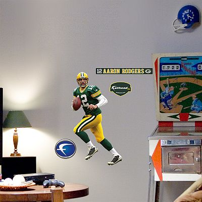Fathead Junior Green Bay Packers Aaron Rodgers Wall Decal