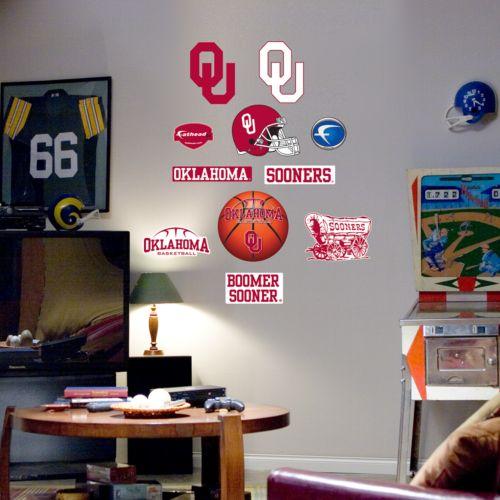 Fathead Junior Oklahoma Sooners Logo Wall Decals