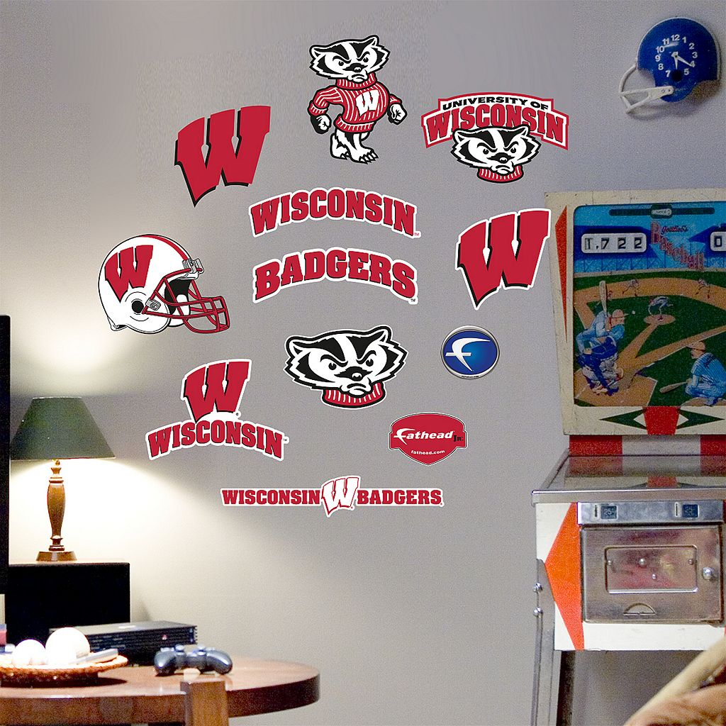 Fathead® Junior Wisconsin Badgers Logo Wall Decals