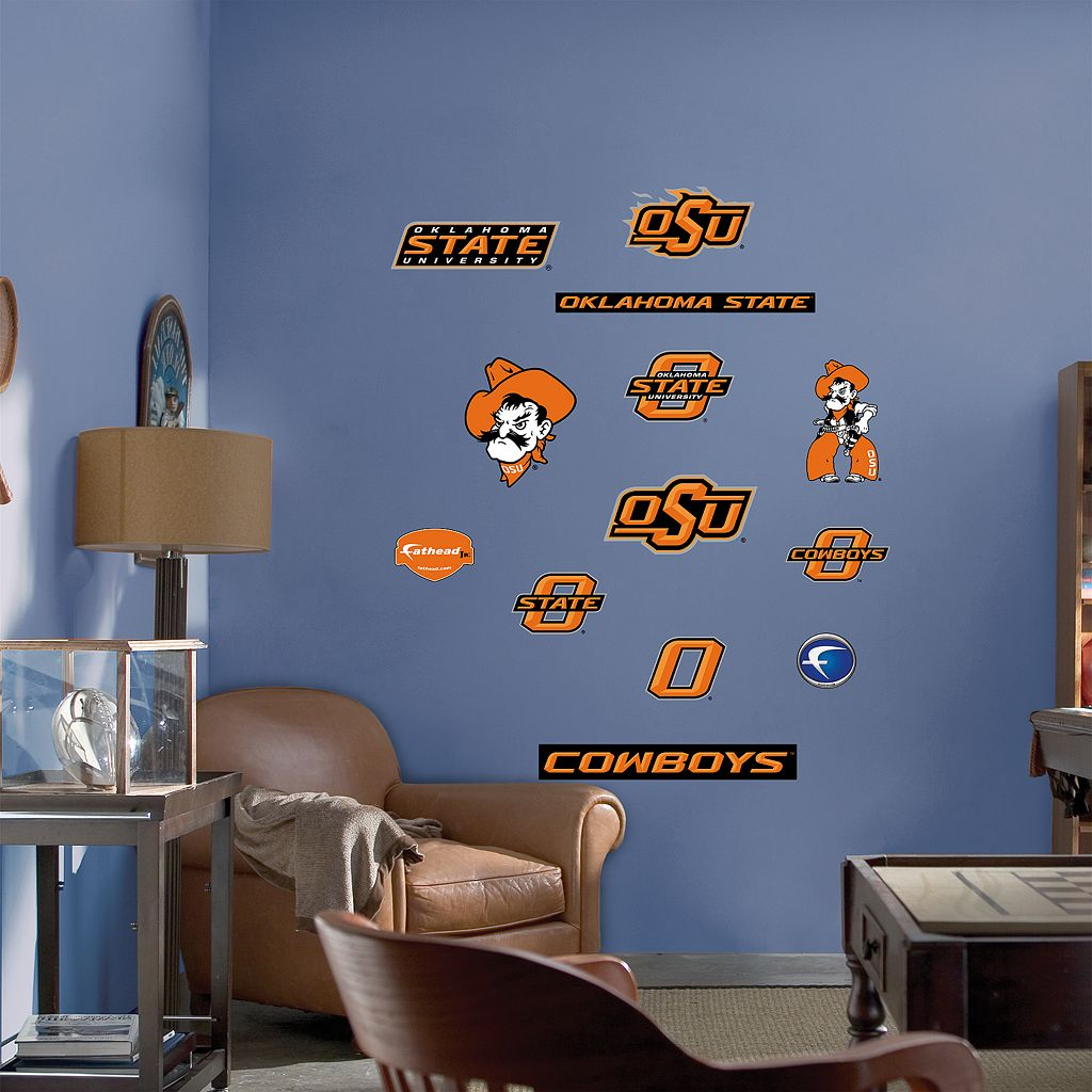 Fathead® Junior Oklahoma State Cowboys Logo Wall Decals