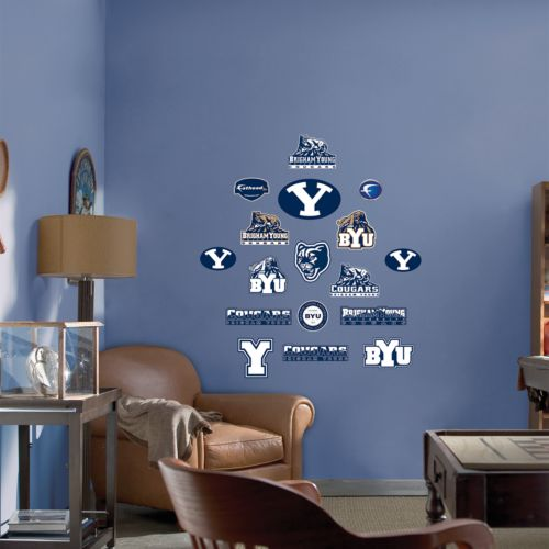 Fathead Junior Brigham Young Cougars Wall Decals