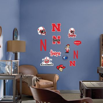 Fathead® Junior Nebraska Cornhuskers Logo Wall Decals