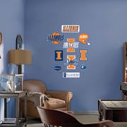Fathead Junior Illinois Fighting Illini Logo Wall Decals