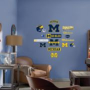 Fathead® Junior Michigan Wolverines Logo Wall Decals