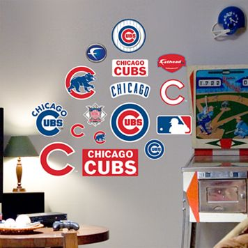 Fathead® Junior Chicago Cubs Logo Wall Decals