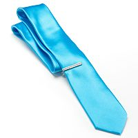 Apt. 9® Solid Skinny Tie with Tie Bar