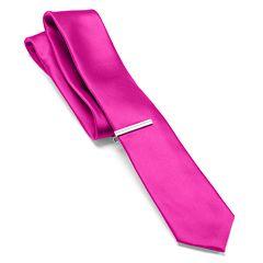 Apt. 9® Solid Skinny Tie with Tie Bar